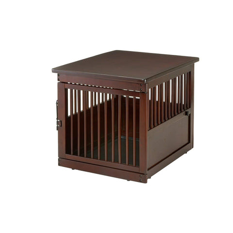 Richell Large End Table, Wooden Dog Crate Kennel
