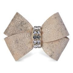 Susan Lanci Glitzerati Nouveau Bow Hair Bow-Single Champagne Glitzerati