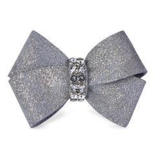 Susan Lanci Glitzerati Nouveau Bow Hair Bow-Single Platinum Glitzerati