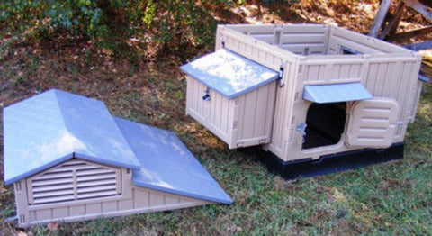 Image of Snap Lock Large Chicken Coop For Up To 12 Chickens