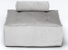 Club Nine Pets Soho Silver Velvet Slipcover