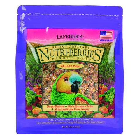 Image of Wingz Avian Products Sunny Orchard Nutri-Berries Parrot, 10 oz. - 3 lbs.