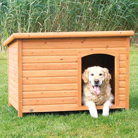 Trixie Pet Natura Insulated Flat Roof Club Dog House Brown L