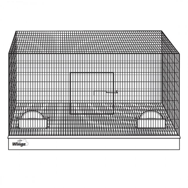 Wing Avian Products 18 x 18 x 20 Cup Cage, Incl. 2 Cups