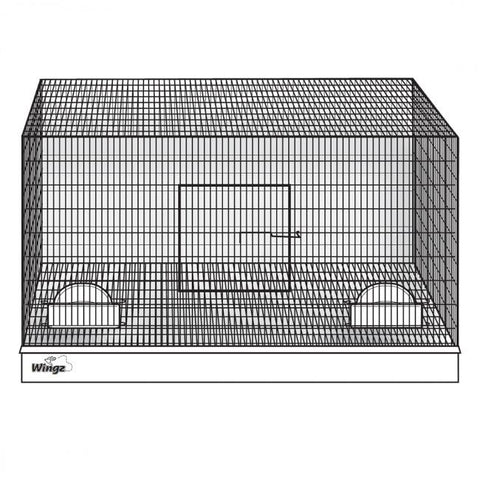 Image of Wing Avian Products 18 x 18 x 20 Cup Cage, Incl. 2 Cups