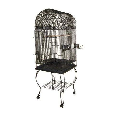 Image of A&E Cage Company - Economy Dome Top Bird Cage - Black - 20 x 20 x 58 Inch