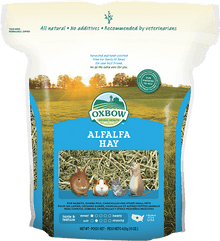 Ox Bow Alfalfa Hay- 15 oz. to  9 lb. bags