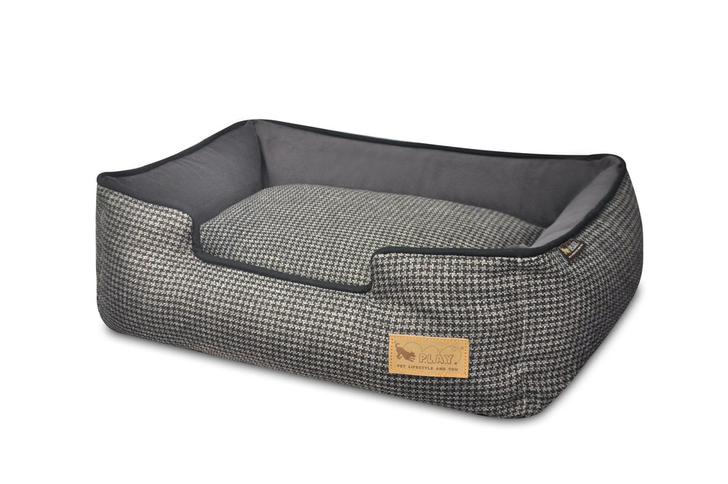 Houndstooth Lounge Bed - Black
