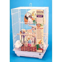 Penn Plax Cockatiel Square Top Bird Cage Kit