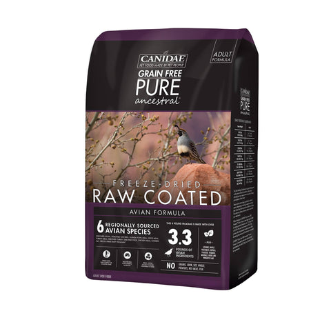 Canidae® Grain Free Pure Ancestral™ Freeze Dried Raw Coated Avian Formula with Quail, Chicken & Turkey Dog Food