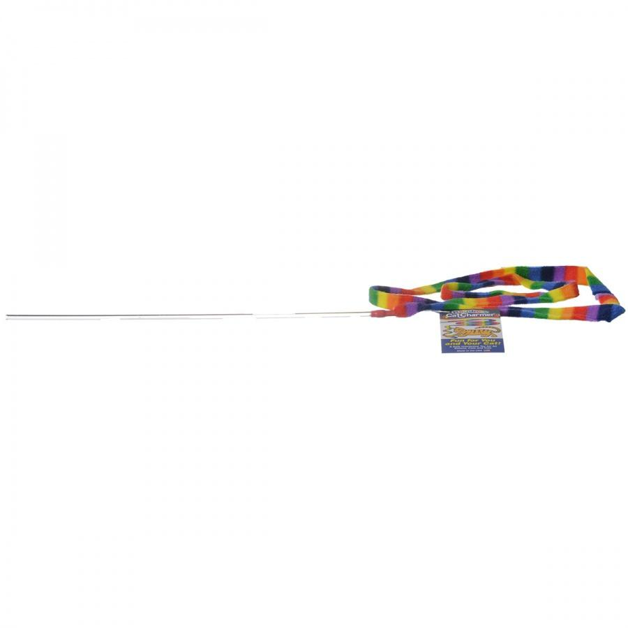 Cat Dancer Rainbow Charmer Wand Cat Toy