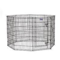 Midwest Container - Exercise Pen with Door - Black - 24 x 42 Inch