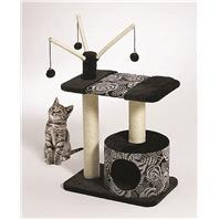 Midwest Container - Feline Nuvo Carnival Cat Furniture - Black & White - 22 X 15 X 36