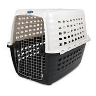 Doskocil - Fashion Compass Kennel - Met White/Black