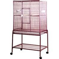 A&E Cage Company - Flight Cage With Stand - Burgundy - 32X21X63 Inch