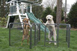 Iconic Pet - Heavy Duty Double Divided Tube Playpen