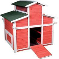 Ware Pet Products Little Red Hen Big Red Barn - Red/White