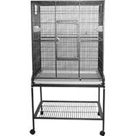 Image of A&E Cage Company - Flight Bird Cage with Stand - 32 x 21 x 63 Inch
