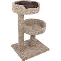 Ware Pet Products 2 Story Perch With Donut Bed - Natural