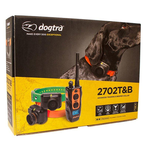 Dogtra 2702 T&B 1-Mile Range Waterproof Training & Beeper e-Collars For 2 Dogs