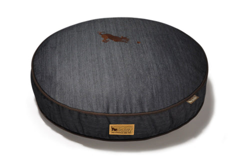 Image of Urban Denim Brown Eco-friendly Pet Bed - Round