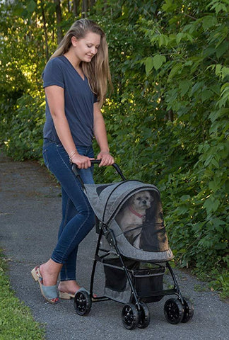Image of Pet Gear- Happy Trails NO ZIP  Single/ Double Pet Stroller For Dogs/Cats