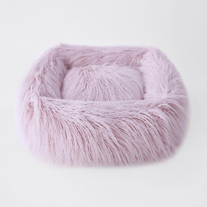Image of Chic Himalayan Faux Yak Fur Dog Bed