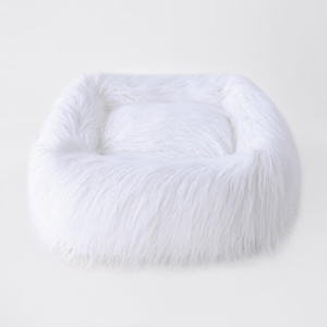 Chic Himalayan Faux Yak Fur Dog Bed