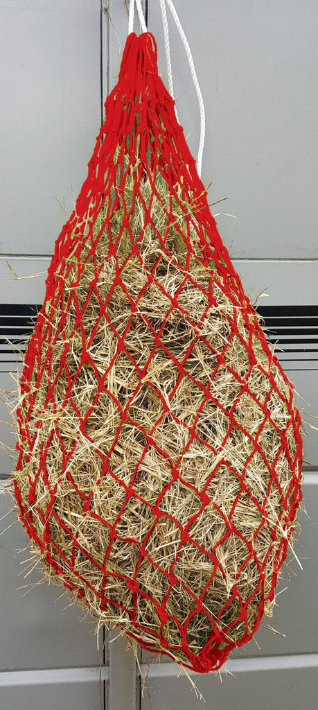Jeffers Slow Feed Hay Net For Horses- Red