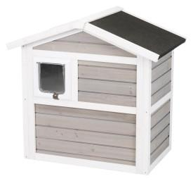 Image of Trixie Pet Natura Insulated 2 Story Cat Home