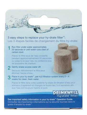 Drinkwell Hy-drate H2O Filters 3-pack