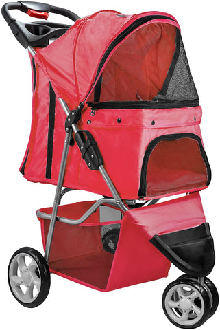 Paws & Pals Pet Stroller for Dogs & Cats (3 Wheel Elite Jogger)