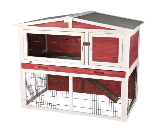Trixie Natura' Small Animal Hutch with Outdoor Run