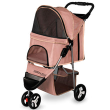 Paws & Pals Pet Stroller for Dogs & Cats- Pink