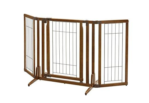 Freestanding Dog Pet Gate With Door - Richell Premium Plus
