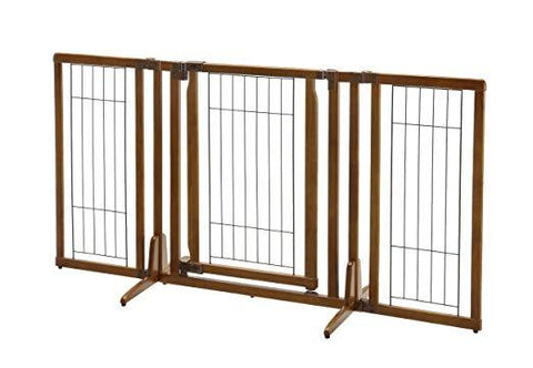 Freestanding Dog Pet Gate With Door - Richell Premium Plus 94193