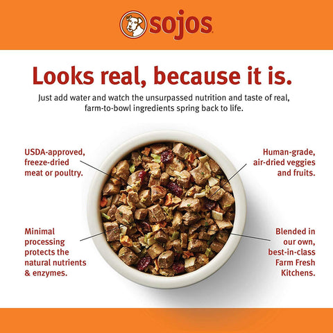 Sojos® Complete Grain Free Beef Recipe Dog Food 7 Lbs
