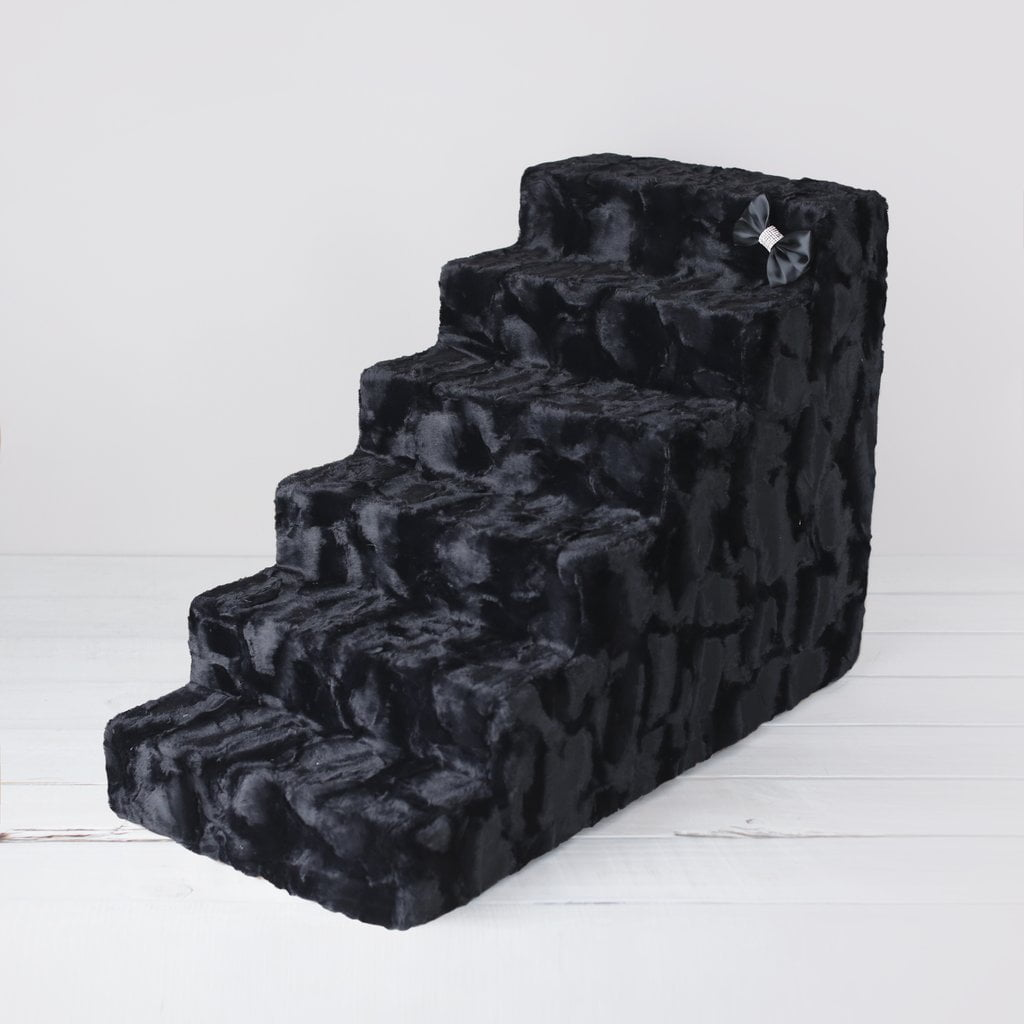 Luxury Faux Fur 6 Steps Pet Stairs By Hello Doggie