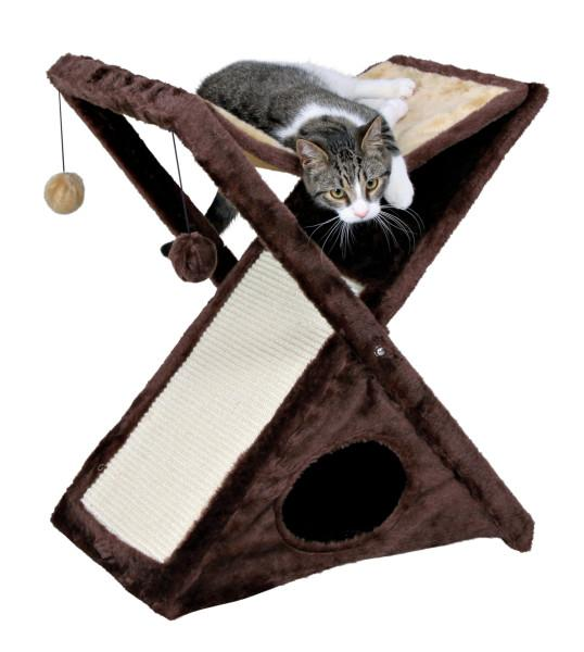 Trixie Pet Miguel Fold and Store Cat Tree Brown