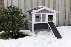 Trixie Pet Natura Insulated 2 Story Cat Home