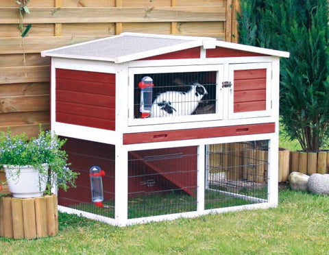 Image of Trixie Natura' Small Animal Hutch with Outdoor Run