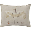 "Feather Weaving Crane Pillow 12""x16"""