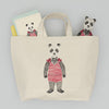 Panda Bear Embroidered Stationery