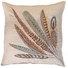 "Pheasant Feather Left Pillow 26""x26"""