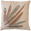 "Pheasant Feather Right Pillow 26""x26"""