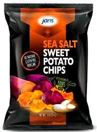 jans sweet potato sea salt chips - 12x84 g