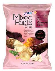 jans mixed roots rosmary, garlic chips - 12x84g