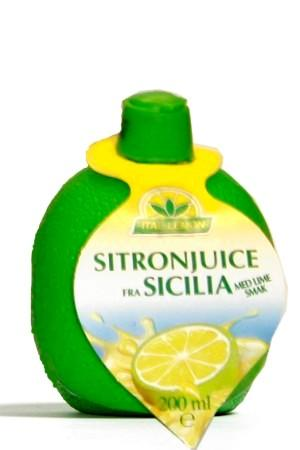 Sitronjuice m/ lime smak - 12x200ml-80312