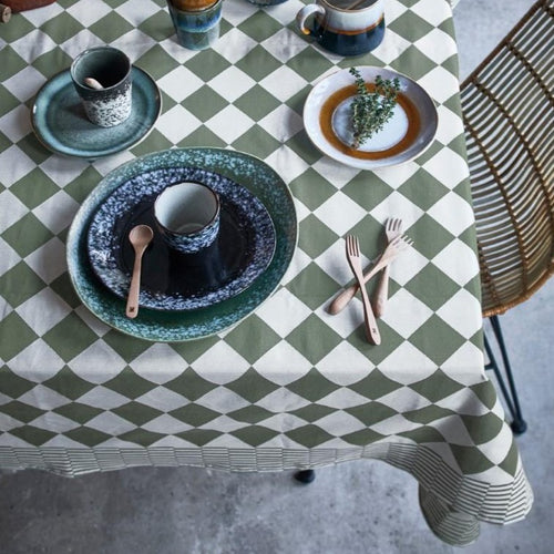 Traditional Dutch table cloth - green