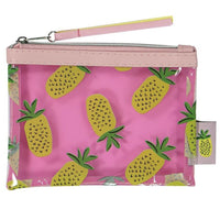 small plastic tote with pineapple